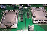 2 Xeon hexa-core CPU 2xX5660/2.8GHz 6-core processors pair twin LGA1366 12 core 24 threads