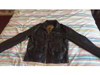 Mens coat Super dry leather