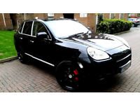 SUPERB BLACK PORSCHE CAYENNE 4.5 TURBO TIPTRONIC S 450 BHP AWD BEIGE LEATHER ALLOYS RED CALIPERS PX