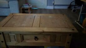 Mexican pine coffee table for sale £20 contact myself Jacqueline on 07835603682 ....................