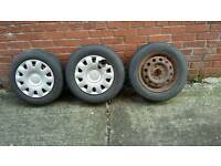 13 inch rims with tyres for sale. From ford fiesta