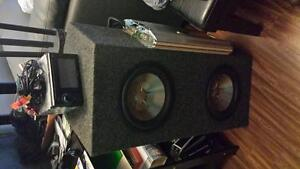 Subs amplifier and nav head unit