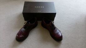 Gucci shoes, UK size 9, almost new, burgandy lace up, not a scuff mark!