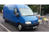 2006 BLUE CITROEN RELAY LWB HIGH ROOF 2.2 HDI 3.5T TURBO DIESEL VAN LONG MOT 2 OWNERS ALL OLD MOTS!!