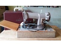 Singer sewing machine with sewing motor