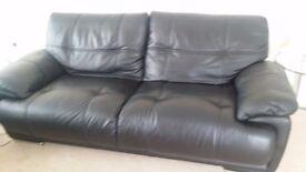 black Leather sofa £350