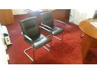 Black, stylish meeting room chairs x 4