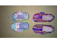 Two pairs of size 3 Toms