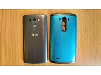 LG G3 phone + Spigen case and spare battery; locked to 3