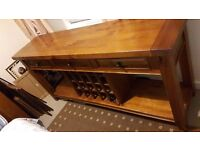 Solid wood Buffet with wine rack holds 20 bottles
