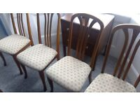 Teak dining chairs x4. Traditional style. Superior quality. £100 collect from Ramsgate