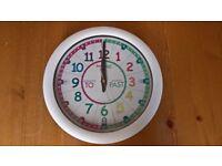 Children's Teaching Time Wall Clock