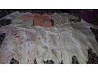 Girls newborn sleepsuits