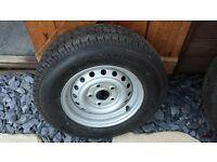 5 stud caravan trailer spare wheel and tyre 165 13c 5 stud
