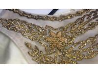 Pastel yellow diamanté dress