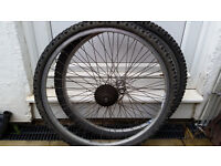 Mountain Bike Wheels and Tyres - Good Used Condition