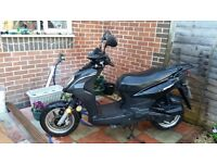 FOR PARTS - SCOOTER. SYM symply 50 50cc NO MOT (after minor accident)