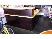 Good quality large l shape wooden desk