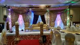 Floral Wedding stages,flower backdrops, vintage stages,mehndi stages,outdoor lighting, marquee hire,