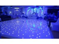 PHOTOBOOTH starlit Dancefloor starlight backdrop 5ft lettering hire in North east south yourkshire