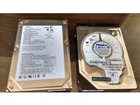 "Two IDE 3.5"" hard drives: Seagate 160Gb and Maxtor 40 Gb"
