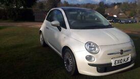 Fiat 500 lounge 1.2 petrol 2010. New MOT, £2650