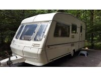 1995 5 berth Abbey caravan with XL Awning and extra room in buncrana, Co. Donegal