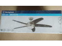 Ceiling fan by Westinghouse,new and unopened.