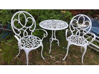 Bistro garden set of table and 2 chairs