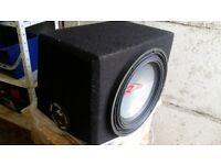 CAR SUB WOOFER SPEAKER ALPINE SWR1242 AUDIO NOT AMP AMPLIFIRE CAR