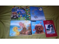 Five kids books: The fisherman and the goldfish, Animals sound book etc