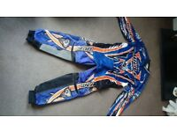 Wulf sport Motorcross jersey and padded trousers. Size 32 trousers and Medium jersey