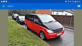 Mercedes Vito 9 seater Camper Van Family Holiday Camping