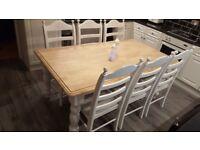 Beautiful Shabby Chic Bespoke Table Set 6ft x 3ft