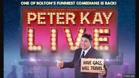 2x Peter Kay tickets newcastle metro arena 28/2/19