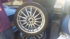 4x alloys and tyres225/40ZR18