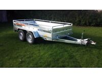 New car trailer twin axle with brakes 300 cm x 150 cm (10 x 5) 2700 kg