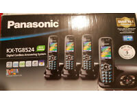 Panasonic KX-TG8524 QUAD Cordless Phones With Answer machine.