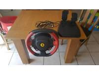 Steering wheel and pedals xbox one
