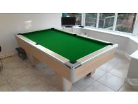 7ft x 4ft Pool Table Slate Bed with light oak finish
