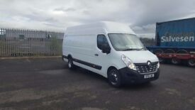 2015-15 plate renault master 165-45 xtralong 4.5 ton high roof twin wheelbase van low miles