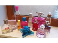Used perfumes for sale.