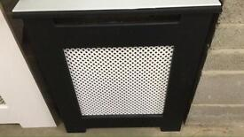 black and white radiator cover