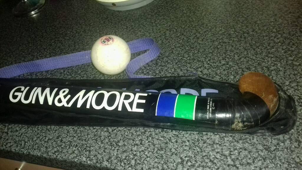 GM hockey stick and ball