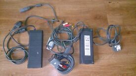 2 sets of XBOX 360 wires with power supply