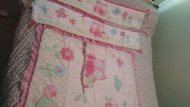 Cot bumper and blanket