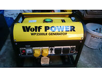 Wolf Power WP3500LR 3200 Watt 6.5HP 4 KVA Dual Voltage Heavy Duty Petrol Powered Generator