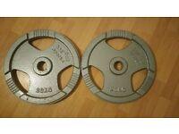 2 x 20kg cast iron weight plates