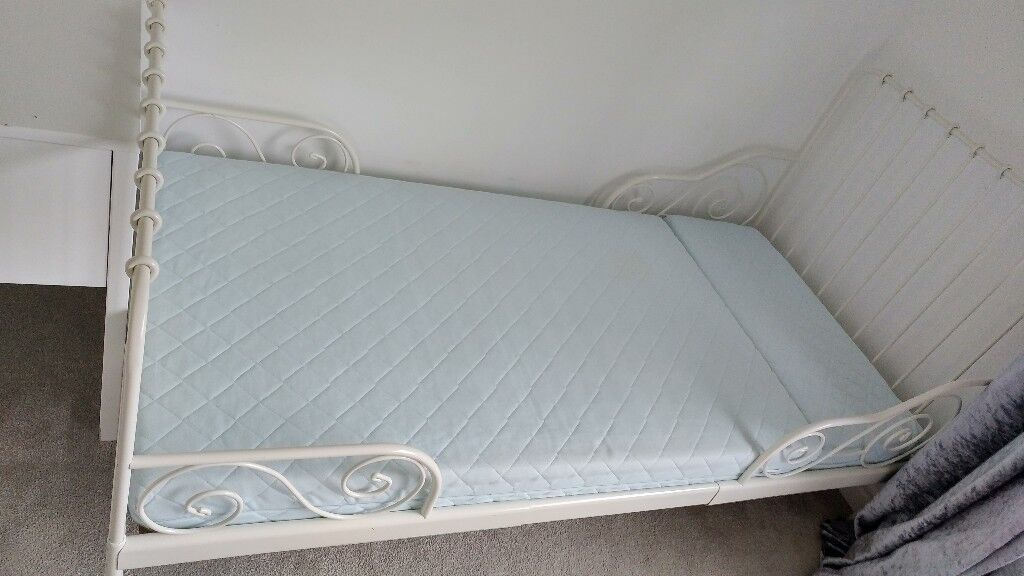 Childrens Ikea Minnen Extendable Bed with Mattress and ...