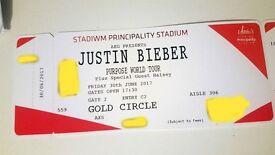 Justin Bieber Tickets Golden Circle x 2